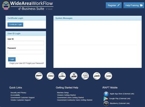 wide area workflow registration wawf e business suite version pdf