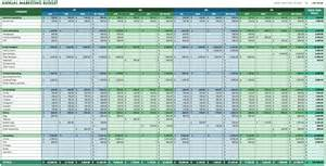 corporate budget template excel 12 free marketing budget templates