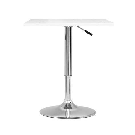white square pub table adjustable square pub table in white daw 610 t
