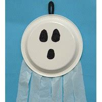 Paper Plate Ghost Craft - paper plate ghost