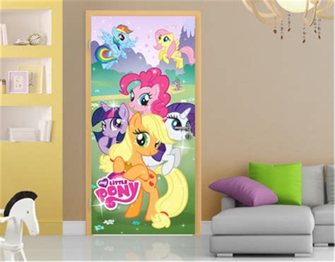 my little pony bedroom decor children s wall and door stickers a fun idea for kids