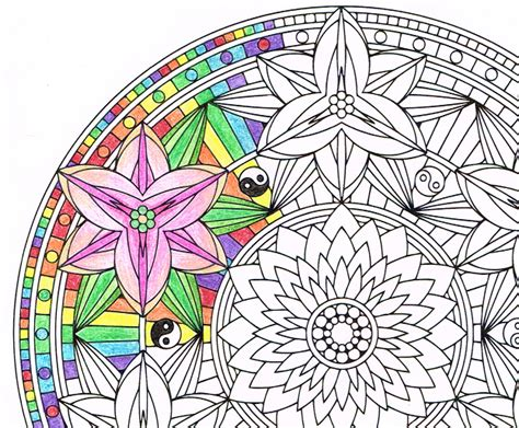 trippy yin yang coloring pages candy hippie yin yang lilies takes a more subtle