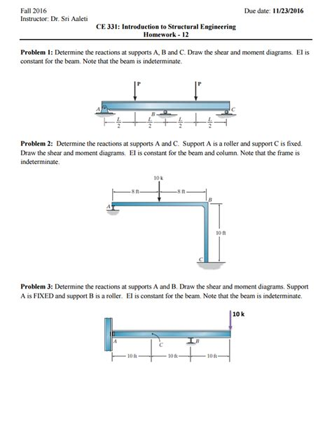 Drawing M Ei Diagram by Solved Determine The Reactions At Supports A B And C Dr