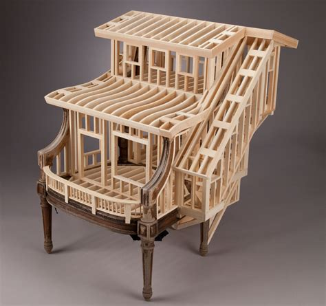 Who Decorates Model Homes by Ted Lott Sit Stay House Frame Chair