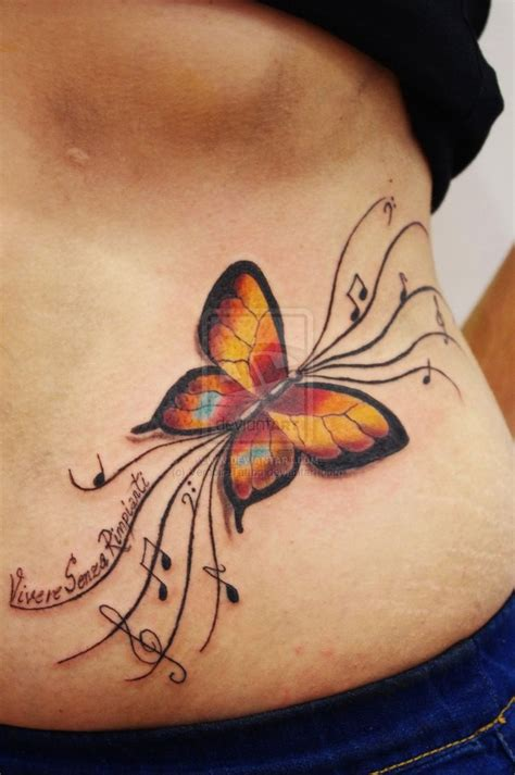 butterfly tattoo designs for hip 32 best butterfly and flower hip tattoos images on