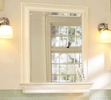 pottery barn bathroom mirror metropolitan mirror with shelf pottery barn