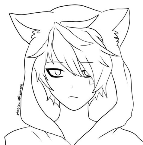 anime guy coloring pages vitlt com drawn anime neko pencil and in color drawn anime neko
