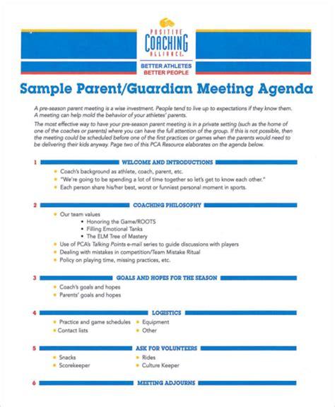 meeting agenda sample  examples  word