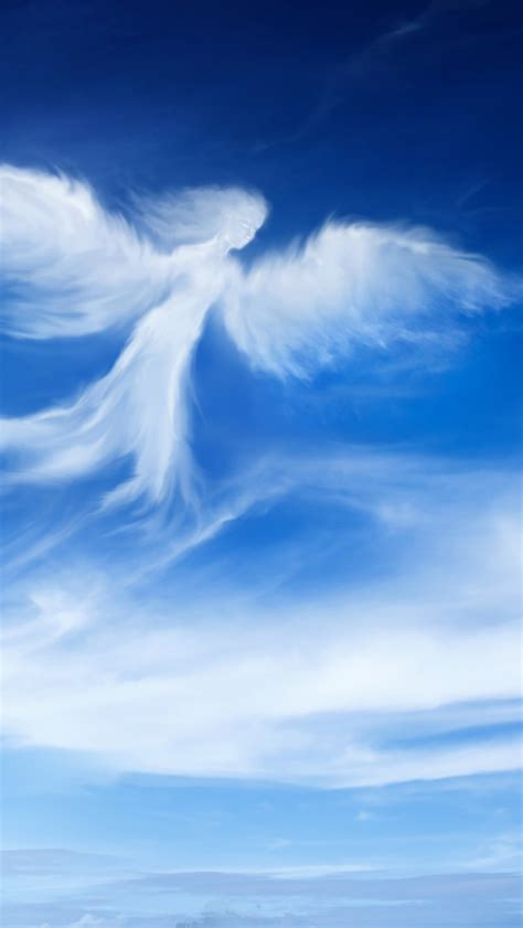 wallpaper angel blue sky hd  creative graphics
