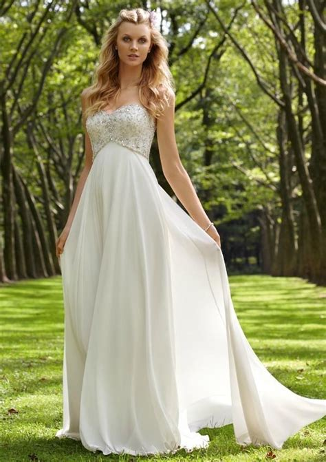 backyard wedding attire casual summer floor length outdoor wedding