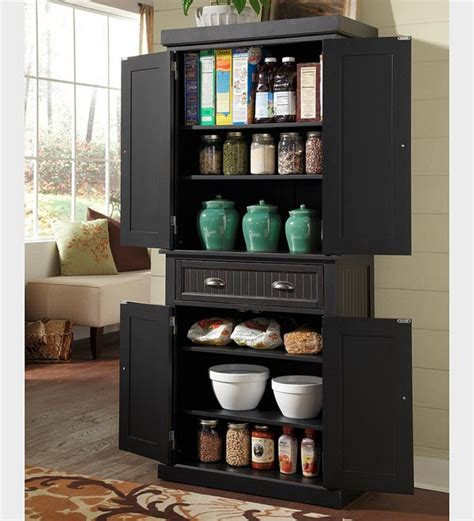 black kitchen storage cabinet organize kitchen pantry interior design decor