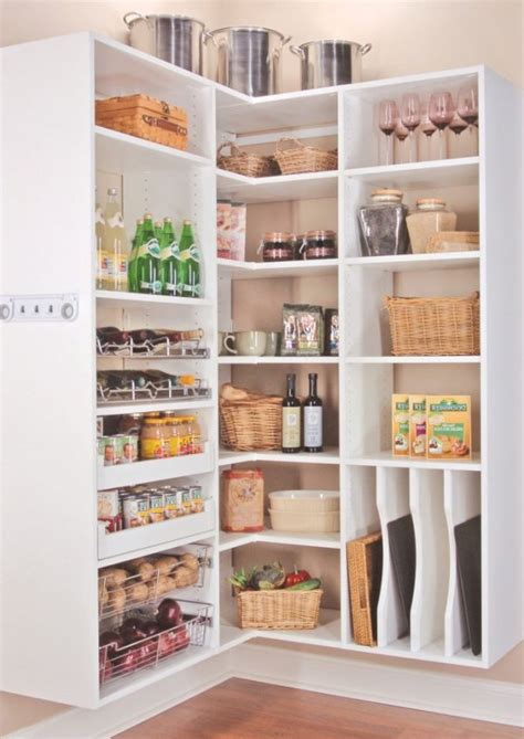 Corner Pantry Shelving by Gorgeous Corner Pantry Cabinet With Stainless Steel