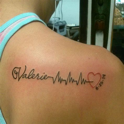 tattoo inspiration parents heartbeats heartbeat tattoo and tatting