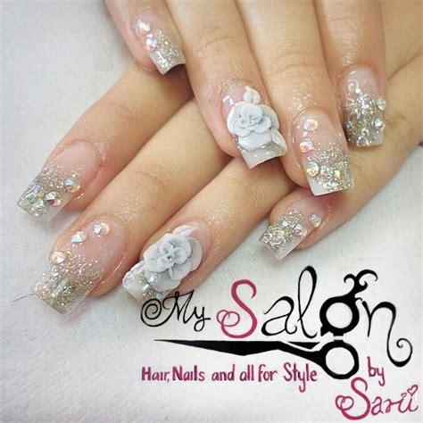 imagenes de uñas blancas con plata 17 mejores ideas sobre u 241 as esculturales decoradas en