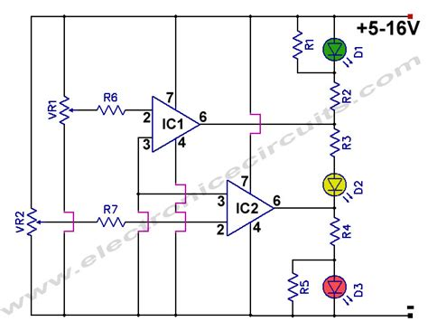led battery indicator circuit indicator battery level circuit schematic