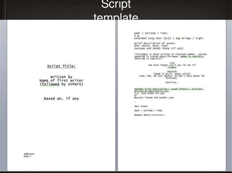 script writing template for script template related keywords script