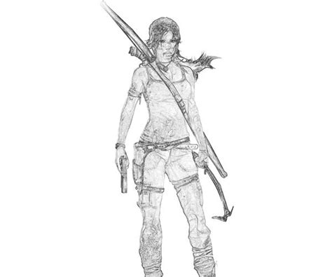 lara croft free coloring pages