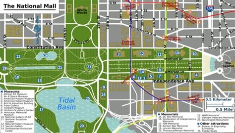 washington dc map museum washington d c national mall and smithsonian museum of