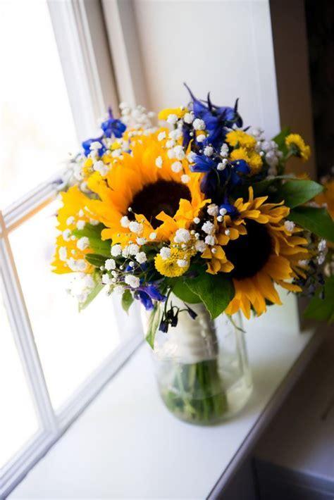 {Royal Blue & Sunflower Yellow} Summer Wedding   Rustic