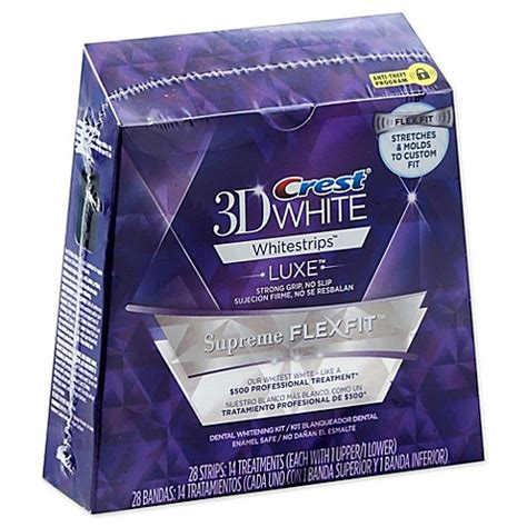 crest whitestrip supreme buy crest 174 3d white whitestrips luxe supreme flexfit