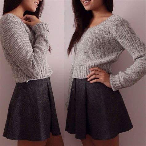 Ootd Crope Sweater pair this crop top from our bethany mota line with a skater skirt for an effortless look