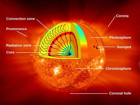 Parts Of The Sun Diagram