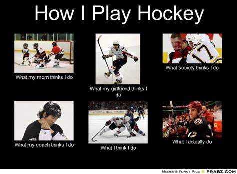 Hockey Meme Generator - how i play hockey what people think i do what i