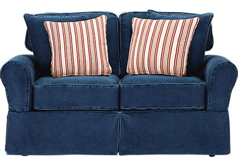 denim couch and loveseat cindy crawford home beachside blue denim loveseat isofa