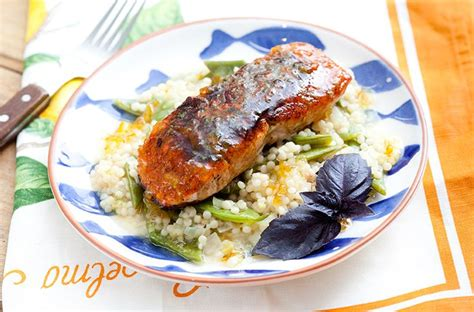 blue apron recipe favorites on pinterest 216 pins bronzed salmon with orange marmalade israeli couscous