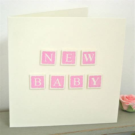 New Baby Handmade Cards - handmade new baby card by chapel cards