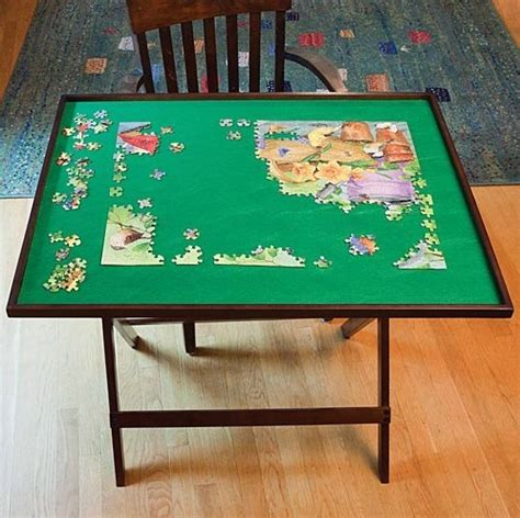 fold and go wooden jigsaw puzzle table folding puzzle