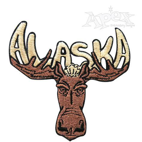 alaska designs moose embroidery design