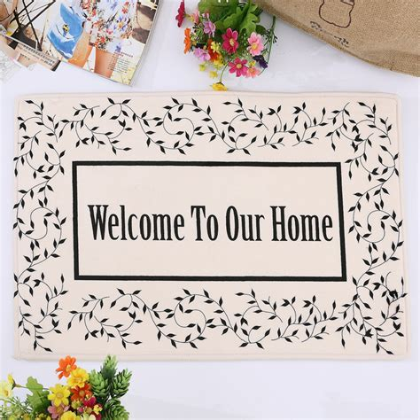 Welcome To Our Home Doormat - 40x60cm quot welcome to our home quot flannel mats prevent