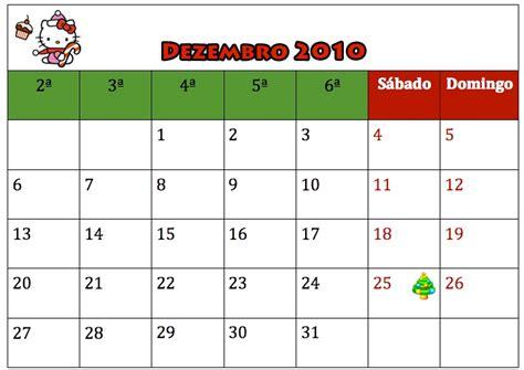 Calendario Dezembro Calendario Dezembro 2010 Hello Para Imprimir