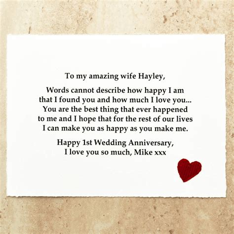 Wedding Anniversary Gift Message by Personalised Wedding Anniversary Gift By