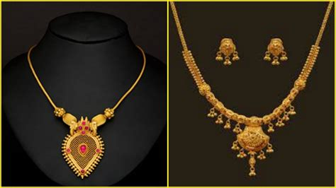 for short neck best suited necklaces light weight gold short necklace designs youtube