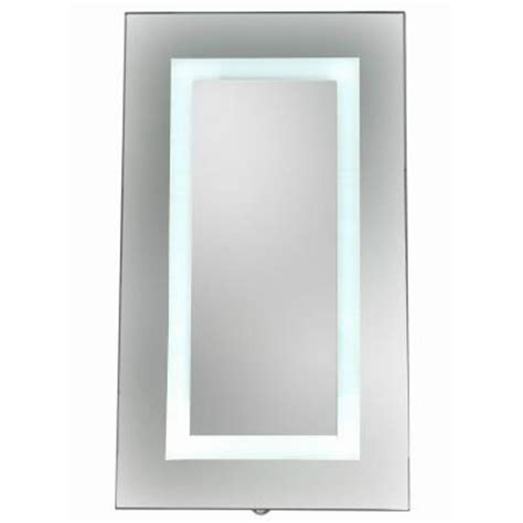 home depot bathroom mirrors medicine cabinets glacier bay 15 in x 26 in surface mount led mirror