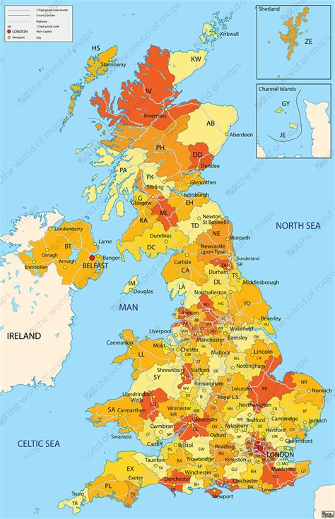 zip code map uk digital zip code map united kingdom 652 the world of