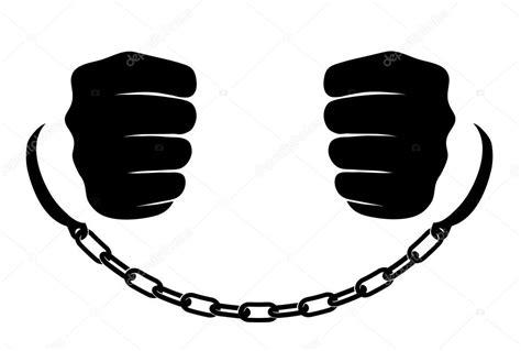 cadenas rotas en vector manos en cadenas vector de stock 169 matc 39585405