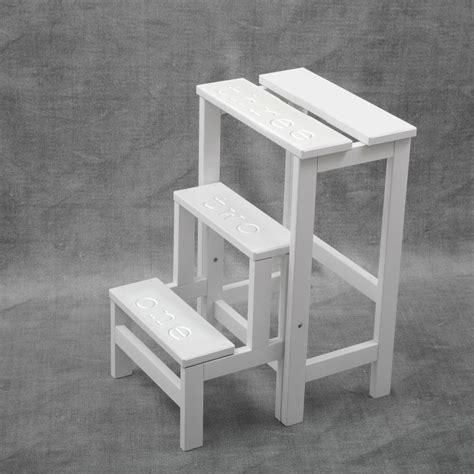 sgabello scala sgabello scala in legno happy numbers fratelli fabbro