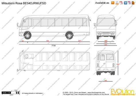 rosa decke mitsubishi rosa be64djrmufbd vector drawing