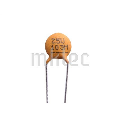 capacitor 10nf 50v 10nf ceramic disc capacitor xicon 10 pack