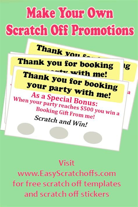scratch card diy template 17 best images about direct sales on marketing