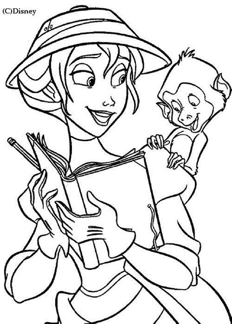 free coloring pages of jane