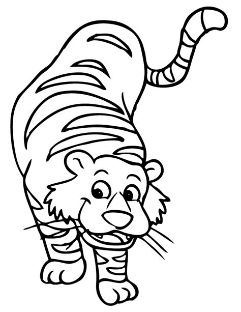 cartoon tiger coloring page cute tiger coloring pages for kids