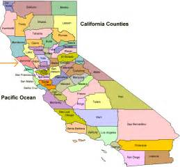 northern california counties map where is sonoma county california