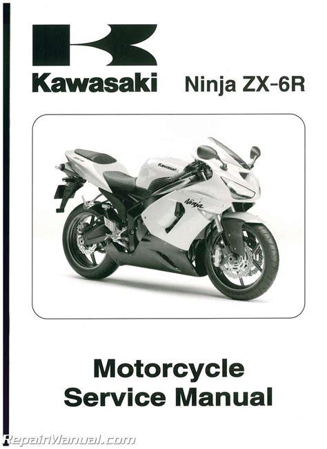 Kawasaki Zx6r Motorcycle Service Manual 2005 2006 99924