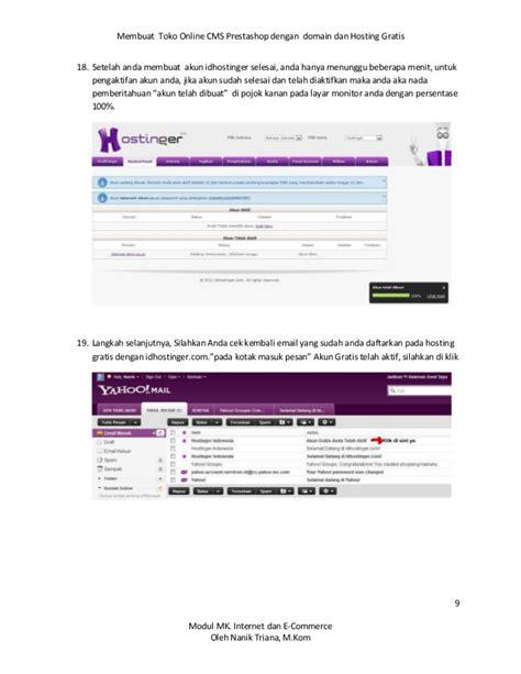 Membuat Toko Online Dengan Idhostinger | membuat toko online gratis dengan cms prestashoop