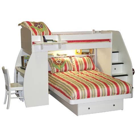 berg l shaped bunk bed with desk and