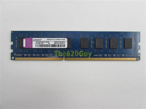 Ram Pc Ddr3 2gb 10600u Kingston kingston acr256x64d3u1333c9 2gb ddr3 1333 cl9 non ecc unbuffered desktop memory ebay